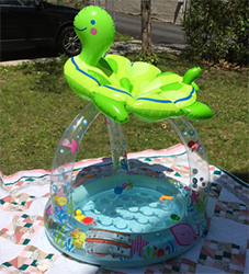 Intex Sea Turtle Shade Inflatable Baby Pool