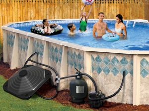 adding above ground pool heater
